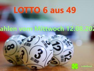 Lotto am Mittwoch von heute 12.08.2020