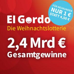 El Gordo Angebot für 1 Euro